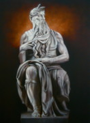 Statue Portrait Paintings - Moses by Grant Kosh