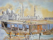 Martin Giesen - Mosque and Dhow Abu Dhabi