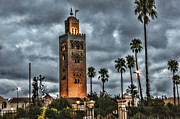 Foreign Travel Posters - Mosque Marrakesh I Poster by Chuck Kuhn