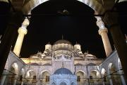 Camii Prints - Mosque Yeni Camii At Night Print by Axiom Photographic