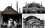 Hagia Sophia Framed Prints - Mosques of Istanbul Framed Print by John Rizzuto