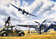 Raf Painting Framed Prints - Mosquito Movietone News  Framed Print by Colin Parker