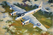Jets Paintings - Mosquito Survey Flight by Colin Parker