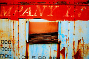 Train Car Prints - Moss and Rust IV Print by Toni Hopper
