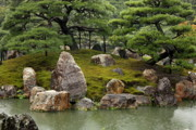 Rainy Day Photo Prints - Mossy Japanese Garden Print by Carol Groenen