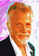 Tv Painting Posters - Most Interesting Man Poster by David Lloyd Glover