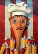 Featured Painting Originals - Mostarda ou Ketchup by Fabrini Crisci