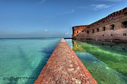Dry Tortugas Prints - Mote Wall Walk Print by Sean Allen