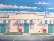 Photorealism Painting Prints - Motel Six . 1989 Print by Wingsdomain Art and Photography