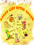 Mother Goose Posters - Motha Goose Poster by Pedro Caignet