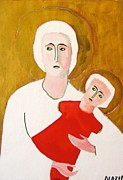 Figures Painting Originals - Mother and Chiild  by Clarence Major