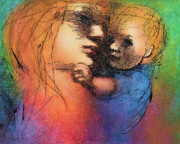 Mother And Child Print by Claire  Szalay Phipps