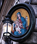 Jesus Christ Icon Metal Prints - Mother and Child Metal Print by John Rizzuto