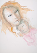 Mother Painting Originals - Mother And Child by Mary DuCharme