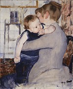 Intimate Painting Framed Prints - Mother and Child Framed Print by Mary Stephenson