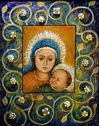 Byzantine Mixed Media - Mother and Child by Phyllis Moser