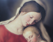 Mother Mary Digital Art - Mother and Child by Rita Brown