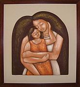 Bas Relief Sculpture Reliefs - Mother and Child by Rodney Martinez