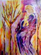 Goddess Paintings - Mother and child by Shelley Bain