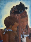 African Child Originals - Mother and Child by Surina Nel