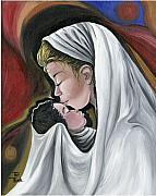 Mother Painting Originals - Mother and Child by Toni  Thorne