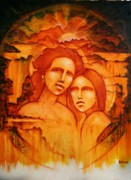 Visionary Paintings - Mother And Daughter by Larkin Chollar