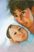 Son Pastels - Mother and Son by Leonor Thornton