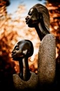 Zimbabwe Photos - Mother and Son by Wenata Babkowski