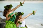Pose Prints - Mother Daughter Hula Print by Ron Dahlquist - Printscapes