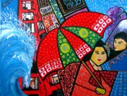 Window Signs Paintings - Mother Earth fights back by Morena Artina