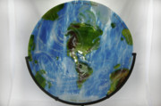 Images Glass Art - Mother Earth by Michelle Ferry