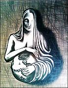Sacred Feminine Prints - Mother Earth Print by Paulo Zerbato