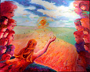 Enjoying Originals - Mother Earth Seeding the Prairies by Naomi Gerrard