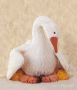 Feathers Posters - Mother Goose Poster by Anne Geddes