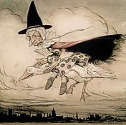 Witch Paintings - Mother Goose frontispiece of Mother Goose The Old Nursery Rhymes by William Heineman