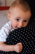 Mother Holding Baby Girl Print by Sami Sarkis
