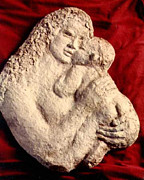Child Sculpture Prints - Mother Holding Child Print by Beverly Barris
