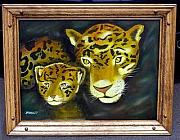 Jaguars Originals - Mother Jaguar and  Cub by Sheldon Morgan