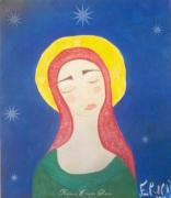 Angel Paintings - Mother Mary  by Sacred  Muse