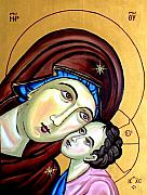 Mother Reliefs Metal Prints - Mother Mary Metal Print by Murali