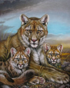 Martin Katon Art - Mother Mountain Lion by Martin Katon