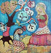 Religious Art Mixed Media - Mother Nature Baby Sweetpea and Mother to Be by Julie-ann Bowden