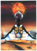 African-american Mixed Media Posters - Mother Nature II Poster by Anthony Burks