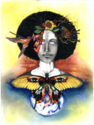 Black Artist Mixed Media Posters - Mother Nature III Poster by Anthony Burks