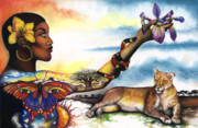 African-american Mixed Media - Mother Nature IV by Anthony Burks