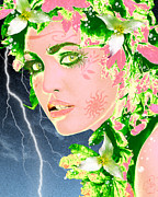 Lightning Digital Art - Mother Nature by Methune Hively