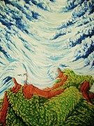 Pralhad Gurung Art - Mother Nature by Pralhad Gurung