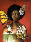 African-american Mixed Media - Mother Nature VIII by Anthony Burks