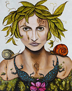 Earth Day Posters - Mother Nature with contrast Poster by Leah Saulnier The Painting Maniac