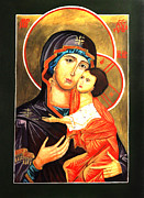 Lamb Of God Painting Posters - Mother of God Antiochian Orthodox Icon Poster by Patrick Kelly